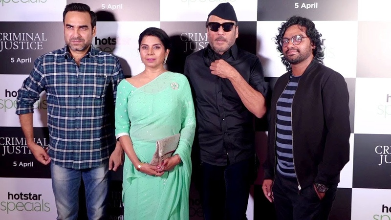 JACKIE SHROFF PANKAJ TRIPATHI AT SCREENING OF HOTSTAR SECOND HOSTAR SPECIAL CRIMINAL JUSTICE