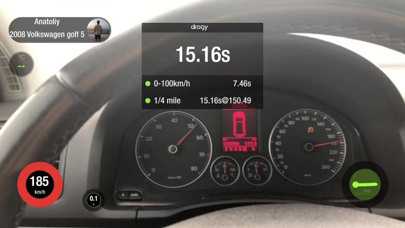 VW Golf 1.4 tsi BMY 140hp 2008 >>> light st1 95ron 190hp
