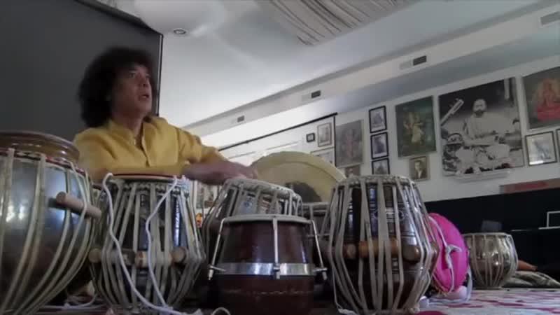 USTAAD ZAKIR HUSSAIN Playing set of TABLA'