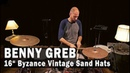 """Meinl Cymbals 16"""" Byzance Vintage Benny Greb Sand Hats"""