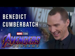 Benedict cumberbatch on working with the russo brothers live on the avengers endgame red carpet [rus sub]