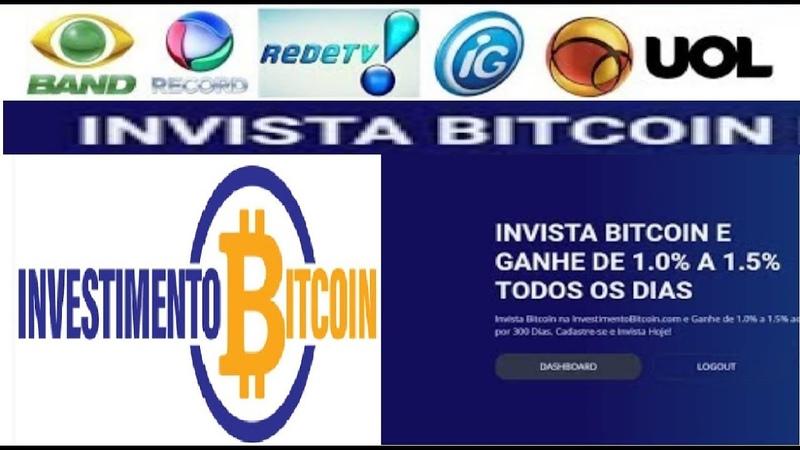 【INVESTIMENTOBITCOIN.COM NA TV】►Anúncios no SBT, BAND, GLOBO, RECORD   Pagando certo a 4 meses