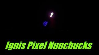 Ignis Pixel Nunchucks on the Trampoline