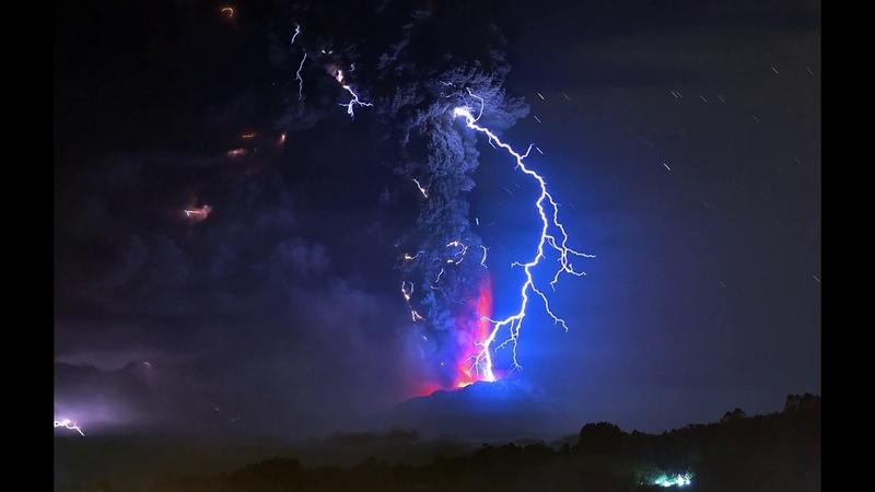 С Мира По Нитке Устрашающие грязные грозы над вулканами