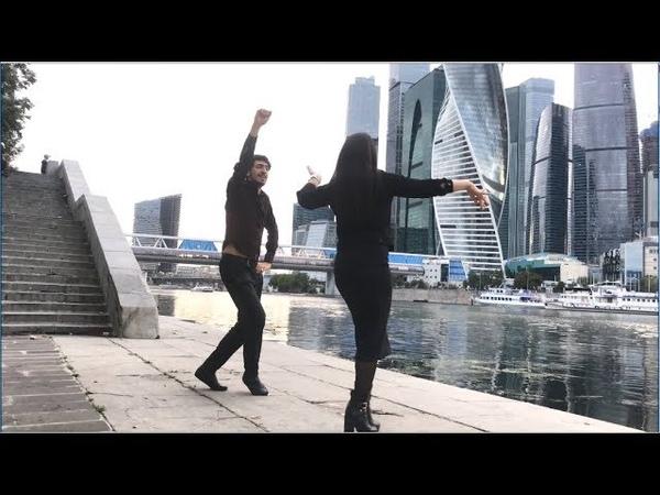 Девушка Очень Красиво Танцует С Парнем В Москве 2019 Лезгинка ALISHKA DARI Москва Сити