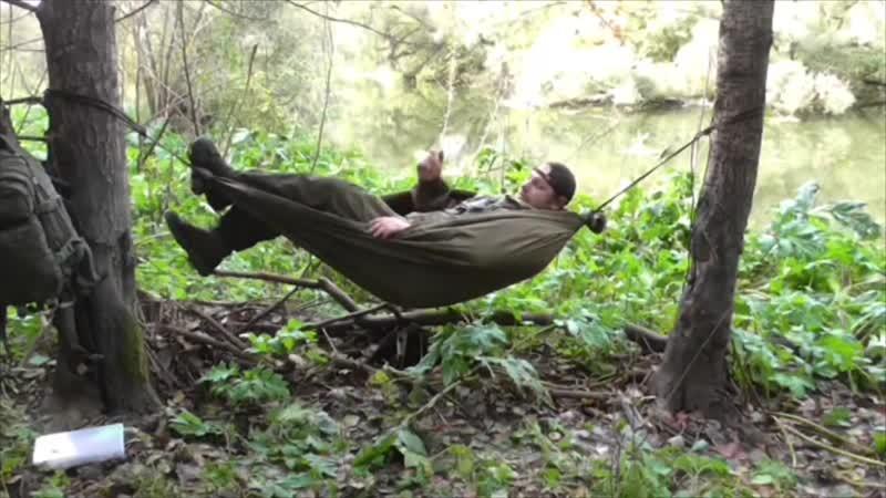 Гамак из плащ-палатки