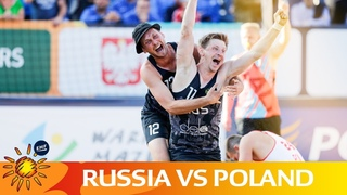 Men's QF Highlights: Poland vs Russia   Beach Handball EURO 2019