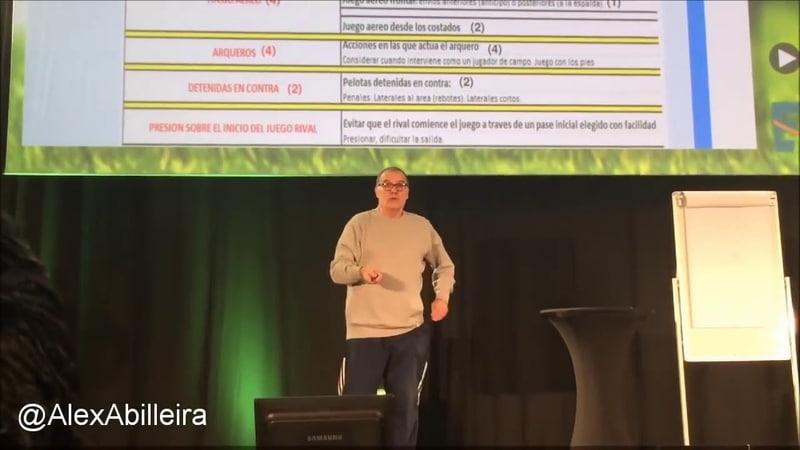 Conferencia de Marcelo Bielsa en Affligem Tipos de desmarques, el pase y zonas de recepción