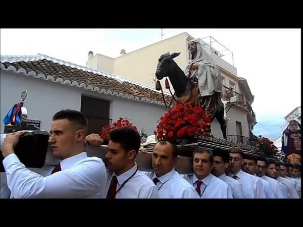 Viernes de Dolores 2018 procesion de la Cofradia Pollinica ALHAURIN de la TORRE 23 03