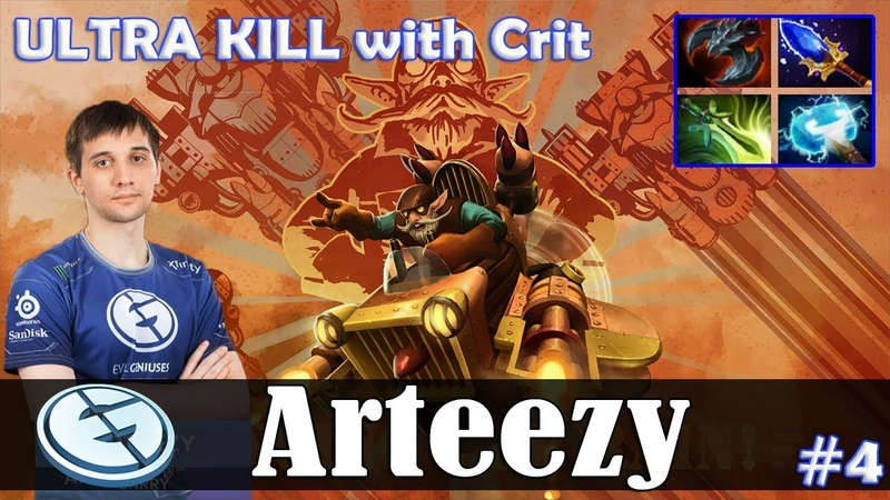Arteezy - Gyrocopter Safelane | ULTRA KILL with Crit (Treant) | Dota 2 Pro MMR Gameplay 4