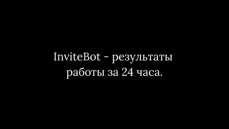 InviteBot - обзор и результаты за 24 часа