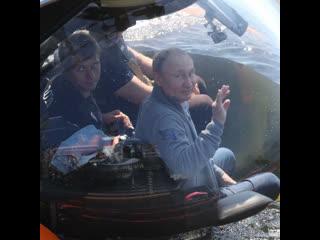 Путин в батискафе погрузился на дно Финского залива