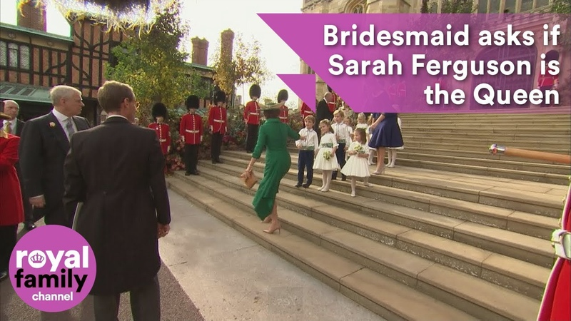 Young bridesmaid asks Sarah Ferguson if she is the the Queen