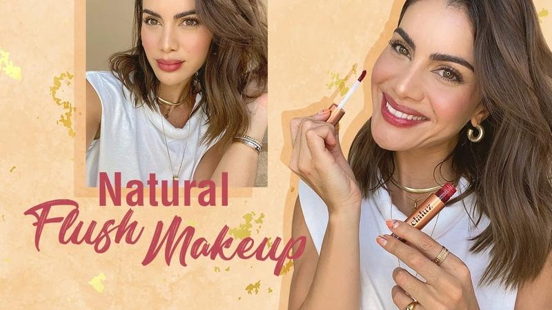 QUICK NATURAL FLUSH MAKEUP Using Lip Cheek Stain