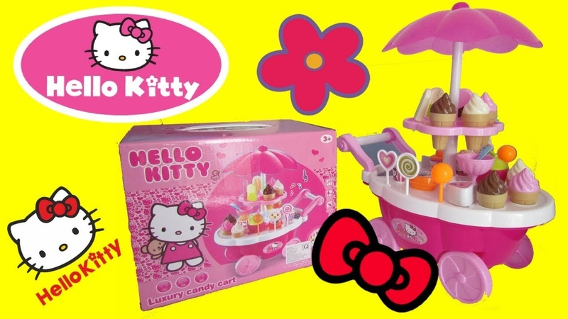 Unboxing And Playing With HELLO KITTY Luxury Candy CART