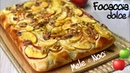 BRIOCHE FOCACCIA DOLCE MELE E NOCI SOFFICISSIMA ricetta facile SWEET FOCACCIA APPLES AND WALNUTS