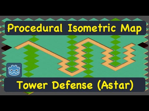 Procedural Isometric Tower Defense Map (Astar) Godot 3.1 Tutorial