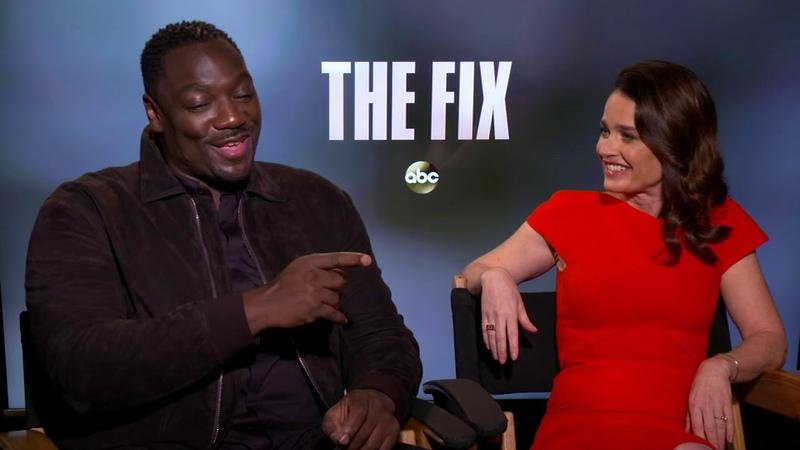 Robin Tunney and Adewale Akinnuoye Agbaje star in new ABC series The Fix