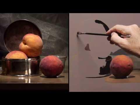 I Paint Three Peaches Painting Demo