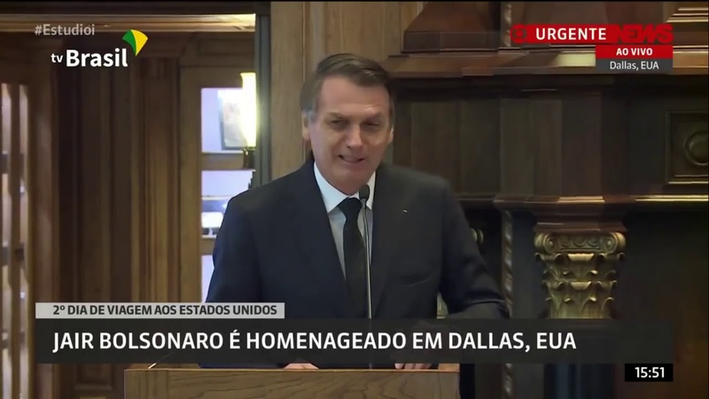 Bolsonaro se atrapalha e confessa: Brasil e EUA acima de tudo Brasil acima de todos 1