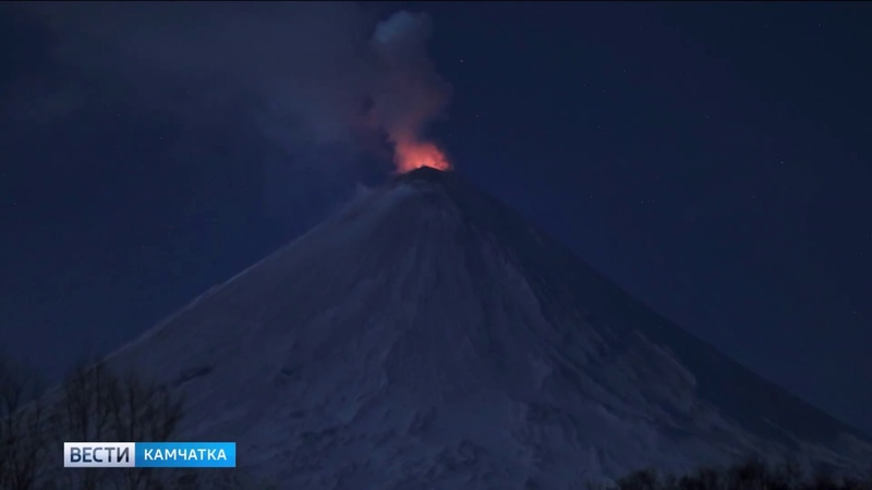 Ключевской вулкан снова извергается    Вести-Камчатка