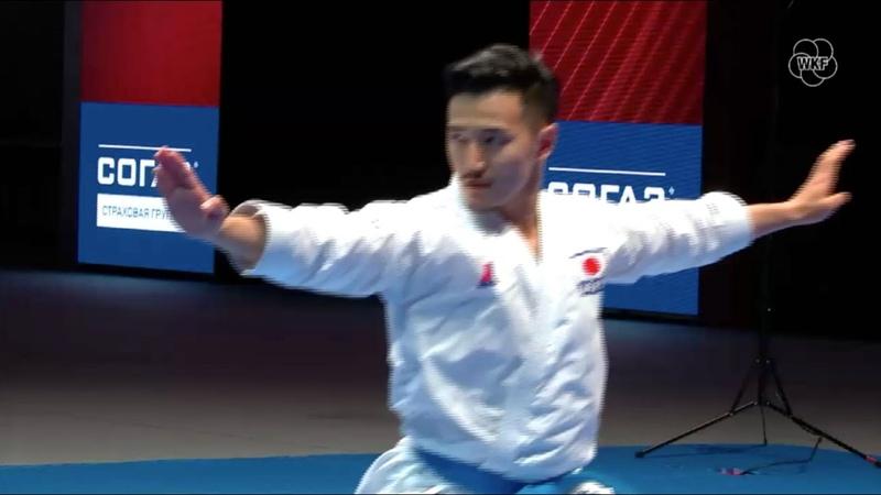 Karate1 Moscow 2019 Male Kata BRONZE medal Arata Kinjo vs. Kazumasa Moto