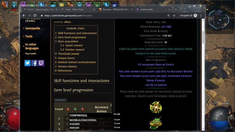 SC Legion Flame Golementalist Lazy builds forever xD OBS crash 2