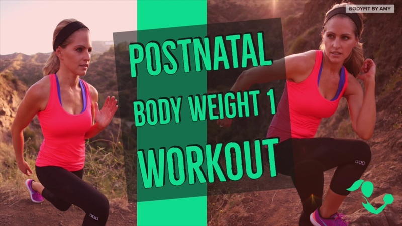 20 Minute Postnatal Bodyweight 1 Workout to Strengthen Tone After Pregnancy
