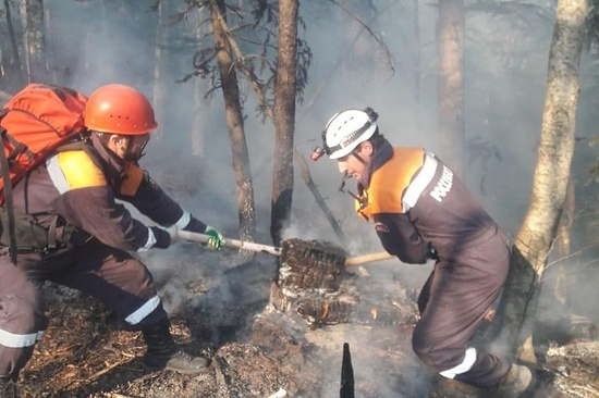 В КЧР вспыхнули лесные пожары в двух районах