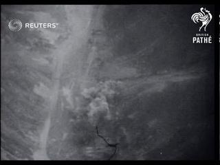 NORTH KOREA: War: Massive air assault (1952)