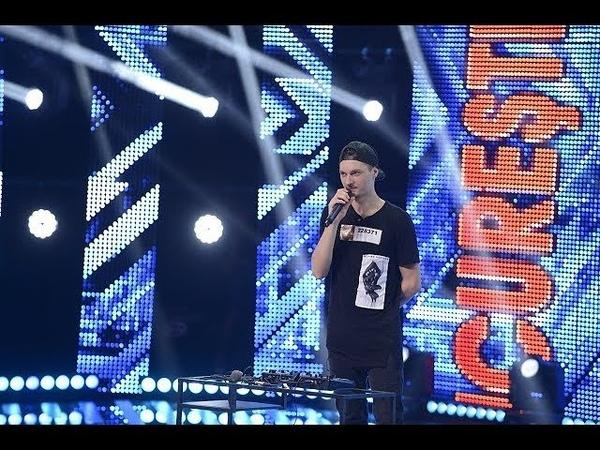 Ştefan Condrea interpretează o compoziţie proprie de BEATBOX, pe scena de la X Factor!