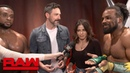 Jenna Dewan and Steve Kazee party with The New Day: Raw Exclusive, June 17, 2019
