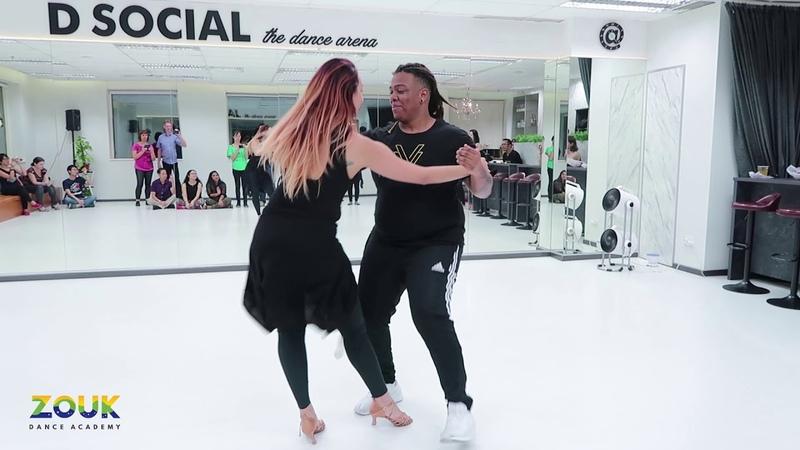 Val Clemente Vanessa Bonilha ZoukRUSH Nov 2018 at Zouk Dance Academy Fri post workshop improv