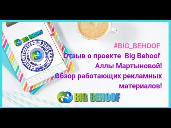 Отзыв о проекте Big Behoof Аллы Мартыновой! Обзор работающих рекламных материалов!
