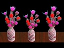 New Style Flower Flower Vase With Plastic Bottle And Jute Rope Best out of Waste Jute Art Craft