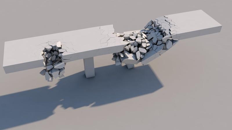 Bridge Collapse Voronoi Fracture in Cinema 4D