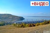Вид с горы Могутовая на Жигулевск, ГЭС и карьер
