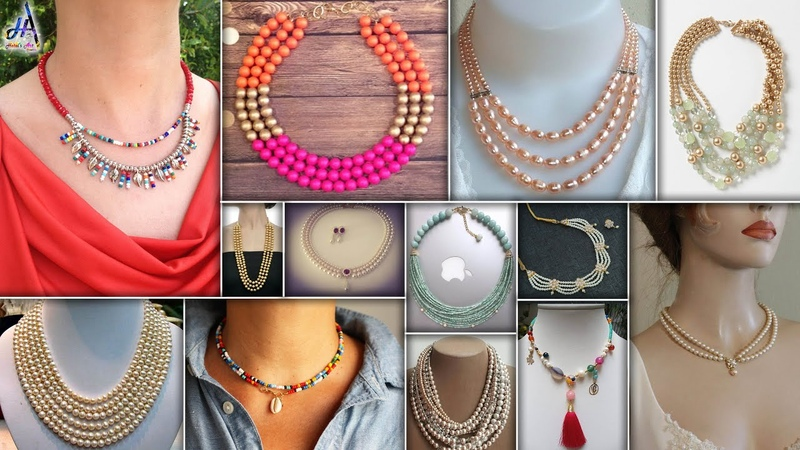 13 Fancy Easy DIY Pearls Necklace For👗 GownDresses And Other Fancy Dresses