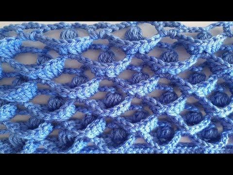 Punto en relieve a crochet tutorial tejido a ganchillo todo en crochet