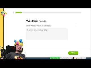 Dizzy Learns Russian - LIVE - First Time on YouTube!