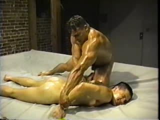 [480]  [Wrestling] (Sex) Zeus - Bondage In Oil Muscle Fight