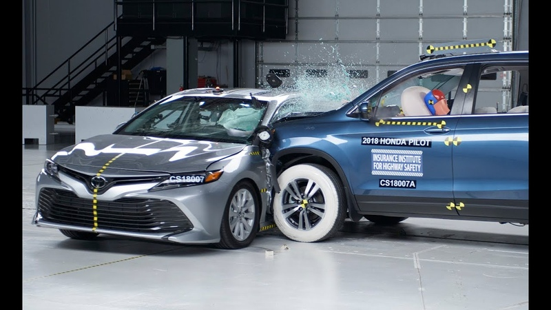 Toyota Camry New tougher side impact crash test by IIHS