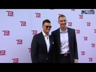 Tom Brady & Chara at the opening for the TB12sports performance and recovery Center