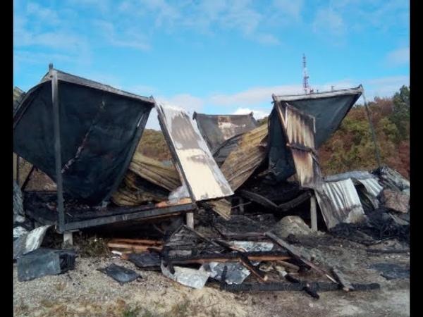 Во временном жилом доме вблизи Варваровки произошёл пожар