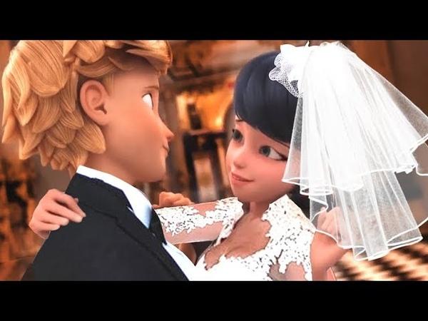 Future wedding Adrian and Marinett not Kagami Miraculous Ladybug