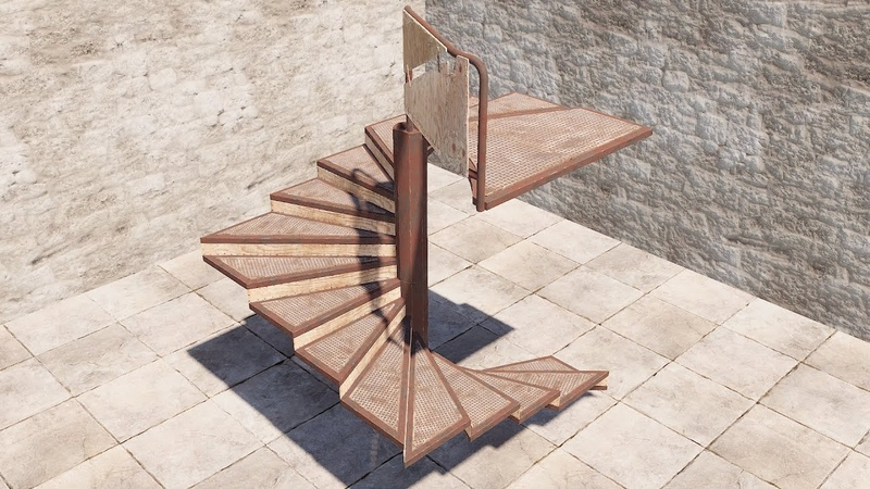 Rust Винтовые лестницы треугольные люки