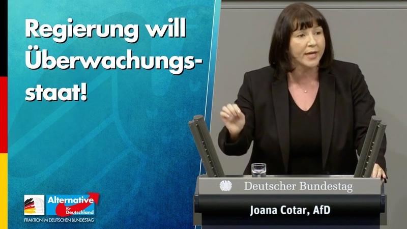 Regierung will Überwachungsstaat einführen Joana Cotar AfD Fraktion im Bundestag