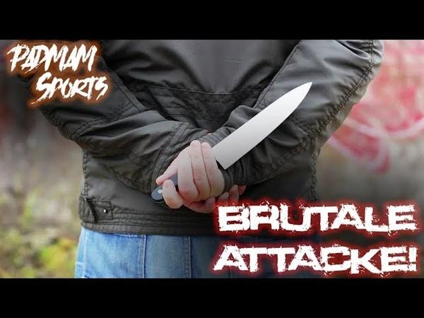 Nach brutaler Messerattacke noch Aggressor K.O geschlagen 😱