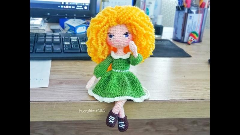 Crochet tutorial doll in curly hair( part 1-body)_ hướng dẫn móc búp bê tóc xoăn xù