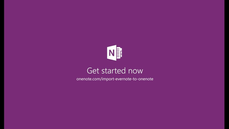 Making the move to OneNote from Evernote